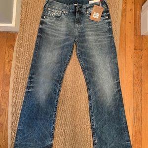 NWT men's True Religion bootcut jeans, size 33